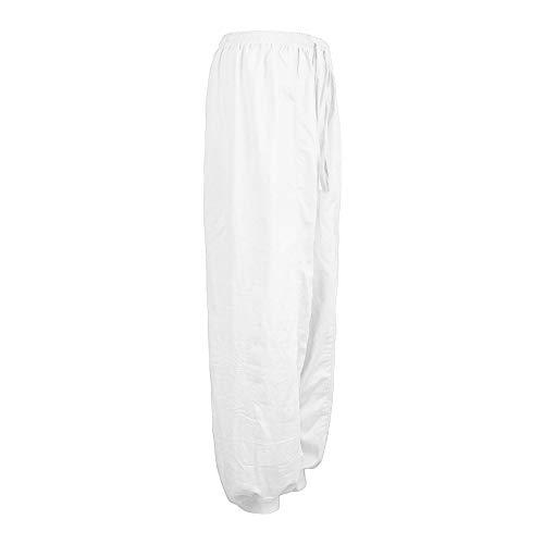 Damen Yoga Hosen Haremshose Pilates-Hosen Weite Hose Chiffon Paperbag Hose Sporthosen Einfarbig Festliche Hosen Weite Bein Hohe Taille mit Breiter Gummibund und Gürtel für Arbeit Freizeit Urlaub
