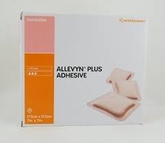 ALLEVYN Plus selbsthaftende Wundkompresse, 17,5cm x 17,5cm x 10 -
