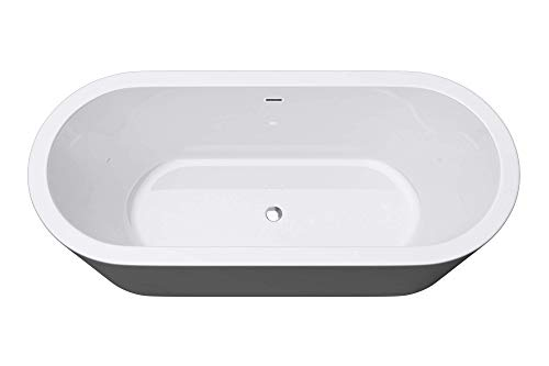 Freistehende Badewanne 180x80cm AcrylWanne 2 Personen Standbadewanne Ablaufgarnitur V511 Mai & Mai