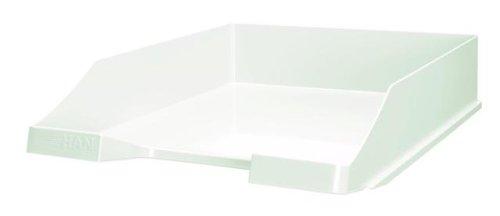 HAN Briefablage KLASSIK 1027-X-12 in Weiß/Hochwertige, stapelbare Ablage im modernen Design/Für Briefe & Papiere bis Format A4–C4, 10 Stück
