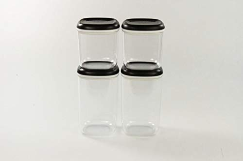 TUPPERWARE Clear Collection 1,3 L (2) + Crystal schwarz transparent 780 ml (2)