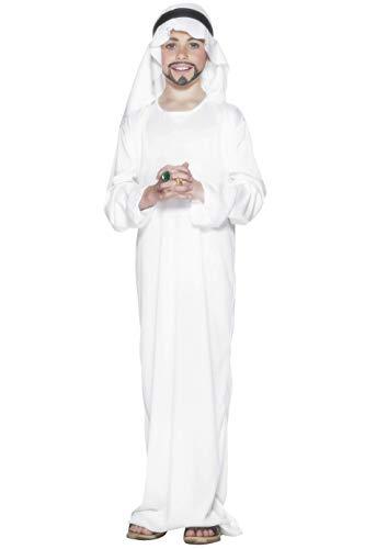Kostüm Märchen Kopfbedeckung - Smiffys, Kinder Jungen Araber Kostüm, Gewand und Kopfbedeckung, Größe: L, 21792