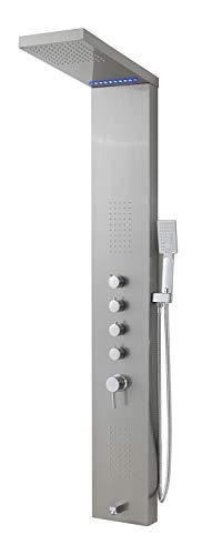 Badplaats B.V. Duschpaneel Eldorado LED Duschsäule Armatur Duscharmatur Regendusche Mischbatterie
