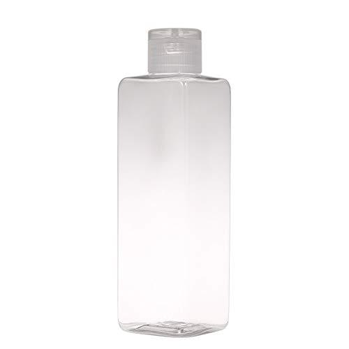 Festnight 250ml leere quadratische Plastikflaschen nachfüllbare Flasche mit Flip-Cap für Shampoo Lotion Creme flüssige kosmetische Flasche