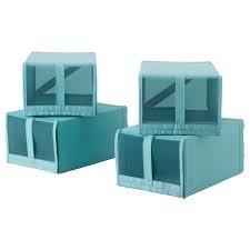 IKEA SKUBB Schuh Box Blau 4 Einheiten (Schuh-speicher-box)