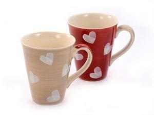 "Becher \""Corazon\"" Keramik, 2 fach 0,3 l = zwei Tassen"