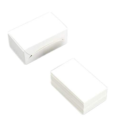 400 weiße Blanko-Papier, Visitenkarten, Vokabeln, Grußkarten, Geschenkkarten, blanko
