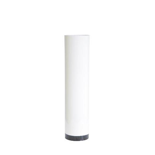 Ofenrohr Emaille 0,6 mm Ø 120 mm Korrosionsschutz, gerade - Rauchrohr, Kaminrohr - für nostalgische Öfen und Herde bis 300 °C - Länge: 500 mm Farbe: weiß