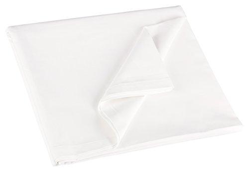 ZOLLNER® klassisches Betttuch  Bettlaken  Haustuch weiß ohne Gummizug 300x300 cm aus 100% Baumwolle, in weitern Größen erhältlich, direkt vom Hotelwäschespezialisten, Serie