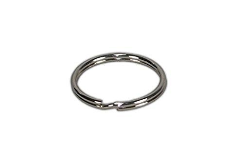Preisvergleich Produktbild WINOMO 100 Schlüsselringe 25mm aus vernickeltem gehärtetem Stahl dt. Herstellung