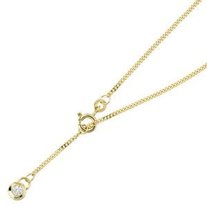 Jewelry women anklet out 333 yellow gold with cubic zirconia, about 25 cm long