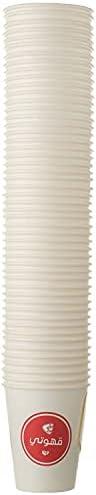 Qahoate Paper Cups 9.Oz, 50 Cups Per Bag, White