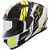 SMK MA124 Swank Graphics Pinlock Fitted Full Face Helmet With Clear Visor (Medium)