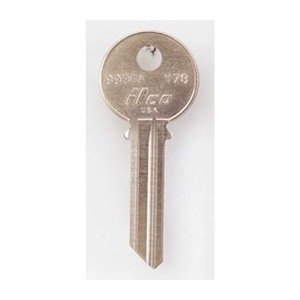 Key Blank, Brass, Type Y78, 6 Pin, PK 10 by Kaba Ilco