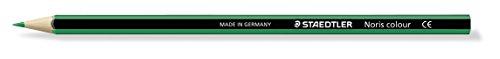 Staedtler 185-5 Noris Colour Farbstift, Stifte aus Wopex, Sechskantform, 12 Stück im Kartonetui, grün