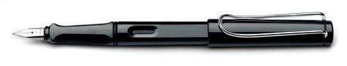 Lamy Safari-Penna stilografica, colore: nero lucido, pennino italico 1,5 mm