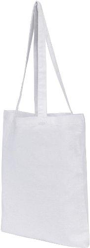 10 x Tote Bag borsa 'homesecure' - 145gsm 38 x 41 cm 4 colori custodia in cotone Bianco (bianco)