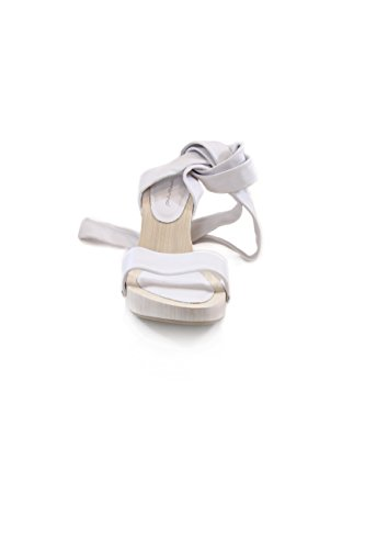 Fornarina sandalo con zeppa. White