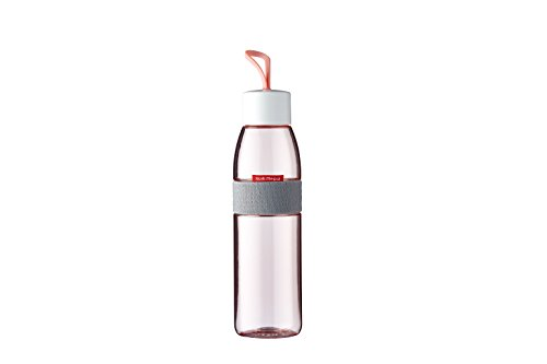 Mepal trinkflasche Ellipse 500 ml-Nordic pink, Plastik, 6.3 x 6.3 x 27 cm