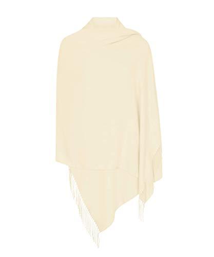 Sahne Hergestellt in Italien (37 Schöne Farben Erhältlich) Pashmina Schal Stola Umschlagtücher Tuch für Damen - Super Weich – Exklusiv von Pashminas & Wraps aus London