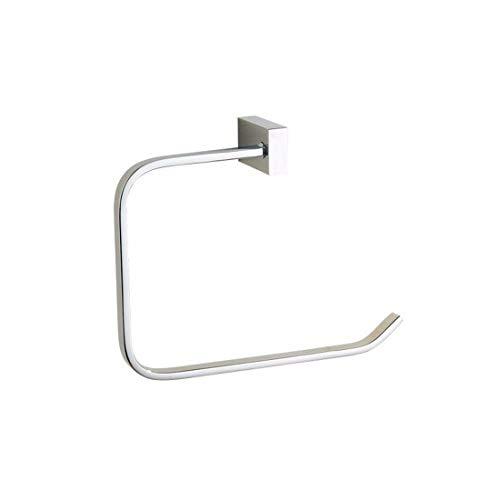 Bathroom Accessories Badaccessoires Sets Europäische Kupfer Chrom Silber Badezimmer Zubehör Set doppel Handtuchhalter Haken, Handtuchhalter Ring (Doppel-band Silber Ring)