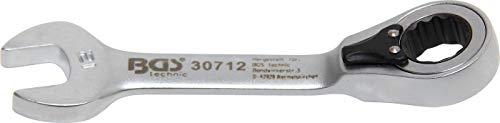 Bgs Clé mixte à cliquet, courte, 12 mm, 1 pièce, 30712