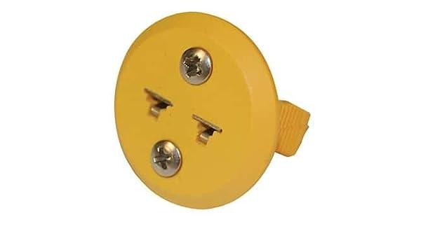 Digi-Sense AO-18527-22 Digi-Sense Panel-Mount Miniconnector Type-K 1//Ea Round Female