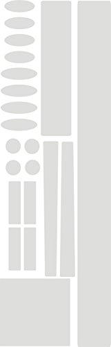 Fahrrad Rahmen- und Kettenstrebenschutz Set aus 3M Lackschutzfolie 7510 transparent 210 µm