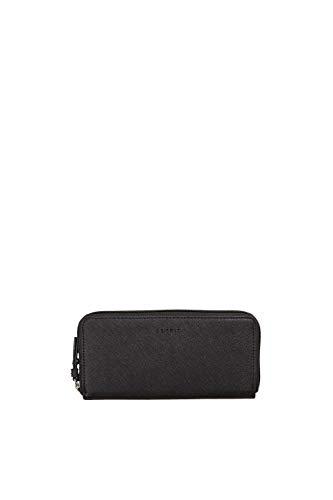 Esprit Accessoires Damen 118ea1v020 Geldbörse, Schwarz (Black), 1x9,5x19,5 cm