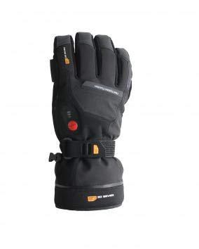 30seven Beheizbare Ski-Handschuhe | Snowboard-Handschuhe mit Protektoren | wasserdichte Motorrad-Handschuhe | Handschuhe Winter Herren und Damen | Schwarz | Größe 10 (L)