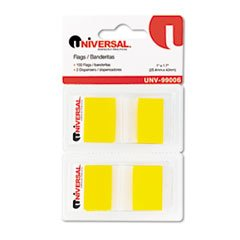 Page Flags, Yellow, 50 Flags/Dispenser, 2 Dispensers/Pack