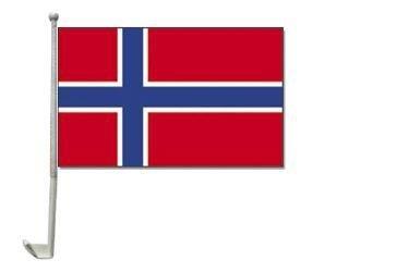 Autoflagge Norwegen 30 x 40 cm