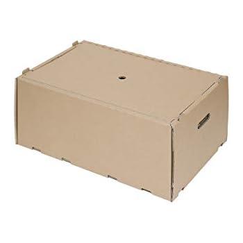CARTONARA 5 Aufbewahrungsboxen aus Pappe mit Deckel | ca