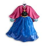 DISNEY STORE AUTHENTIC; FROZEN ANNA COSTUME DRESSING UP OUTFIT FANCY DRESS - Size 4 years - Satin cape , Organza top skirt , Satin underskirt