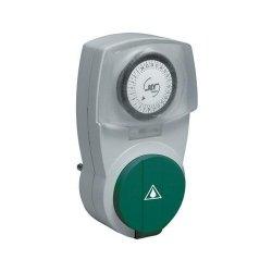 REV Ritter 0025710603 Z-Uhr mechanisch Tag IP44 prof., schwarz / grün von REV Ritter auf Lampenhans.de