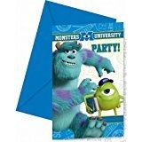 Die Monster Uni Einladungskarten mit Umschlag