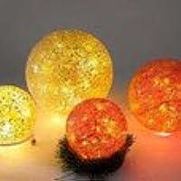 Bola de mosaico rojo o verde amarillo con luz cm.20