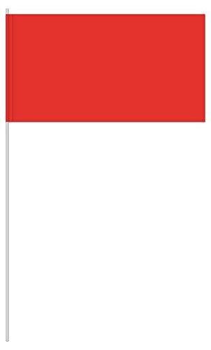 partydiscount24 10 x Papierfähnchen Rot