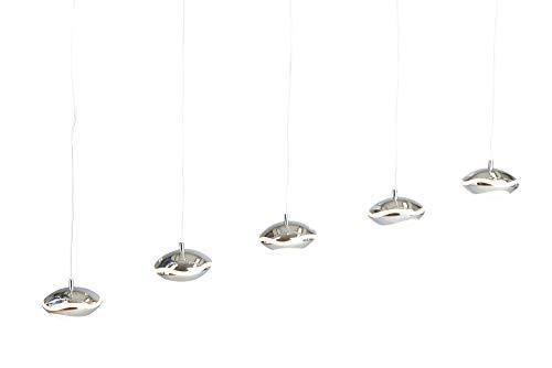 Dimmbare Höhenverstellbare LED HÄNGELEUCHTE CLAMIA 5er (Pendelleuchte Hängelampe Deckenlampe Pendellampe Deckenleuchte)