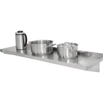 Estantería Vogue de acero inoxidable para cocina de 600mm, almacenamiento de ollas,...