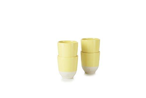 Revol RV648915 Tasse à Thé Color Lab, Porcelaine, Jaune Citrus, 8 x 8 x 8,8 cm