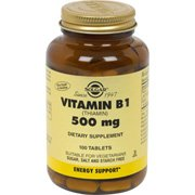 Solgar - Vitamin B-1 (Thiamin), 500 mg, 100 tablets from Solgar