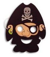 Eva Foam Bearded Pirate Mask by Henbrandt (Schaum Piraten Masken)