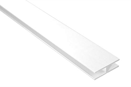 2 Meter | H-Profil | Alu | eloxiert | 40x12mm | Effector | B91 | Weiß