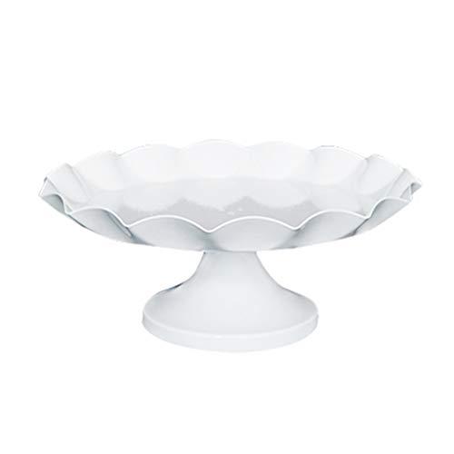igkeiten Platte, Metall Hochzeitstorte Stand Hotel Party Platte Einfache Outdoor Dessert Platte Büro Keks Tabelle Obstteller (Size : 21 * 21 * 9CM) ()