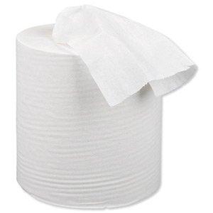 5 Star 1-Ply Centre Feed Tissue Refill for Dispenser, Pack of 12, White