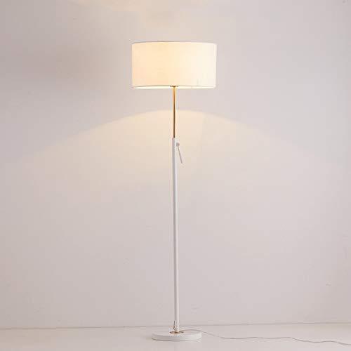 Lampadaires nordiques en fer, Tissu minimaliste moderne à LED, éclairage de bureau réglable en hauteur, lampe de bureau, étage postmoderne, salon, lampe de table à étage, noir, blanc