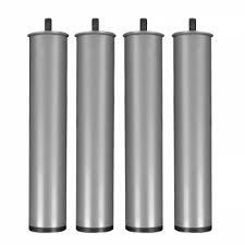SZZZ-4 Patas de Somier-Base Tapizada, metálicas y cilíndricas. 25,5 cm de altura x 5 cm de diametro. Rosca métrica 10mm. Color Gris metalizado.