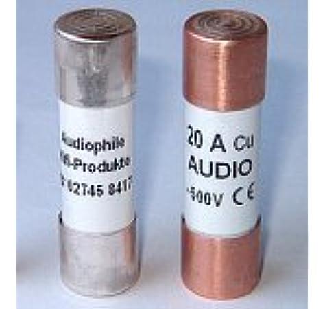 IV 3 oder 4 vergoldet 16A AHP Sicherung 10x38mm Fuse für Klangmodul III o