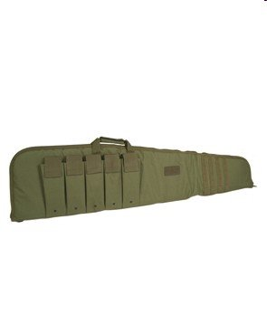 Large Tactical Rifle Case Padded Gun Bag MOLLE Airsoft Shooting Hunting Olive